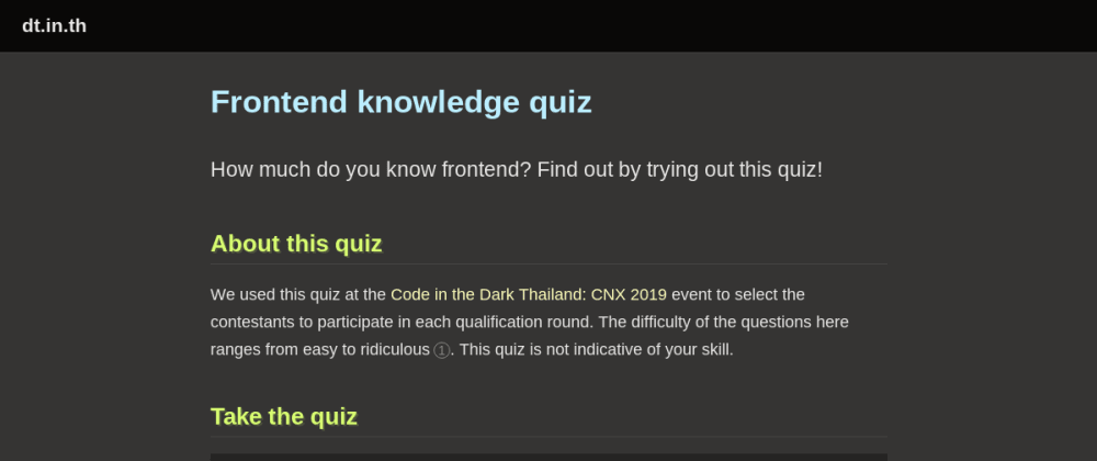 Cover image for Test your frontend knowledge with this little fun quiz