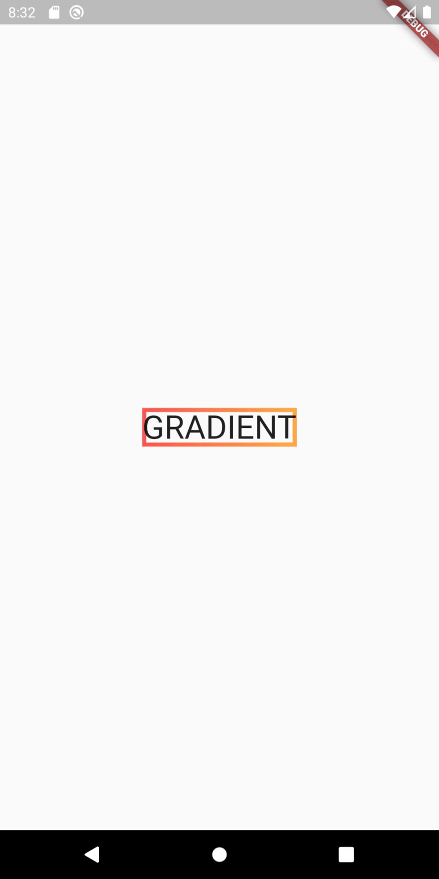 Gradient border around text in Flutter
