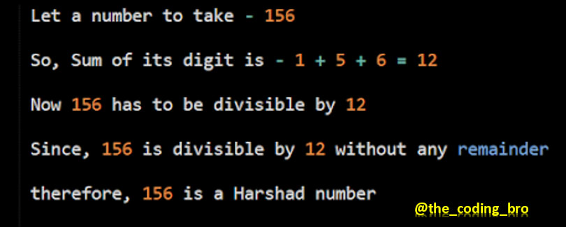 Harshad Number Example