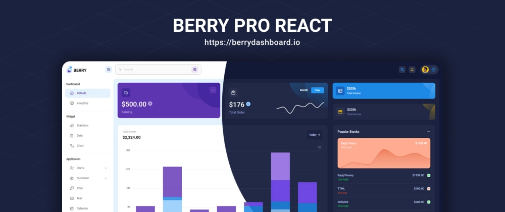 Cover image for Berry Pro React Admin Released