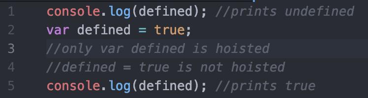 var variable hoisting example