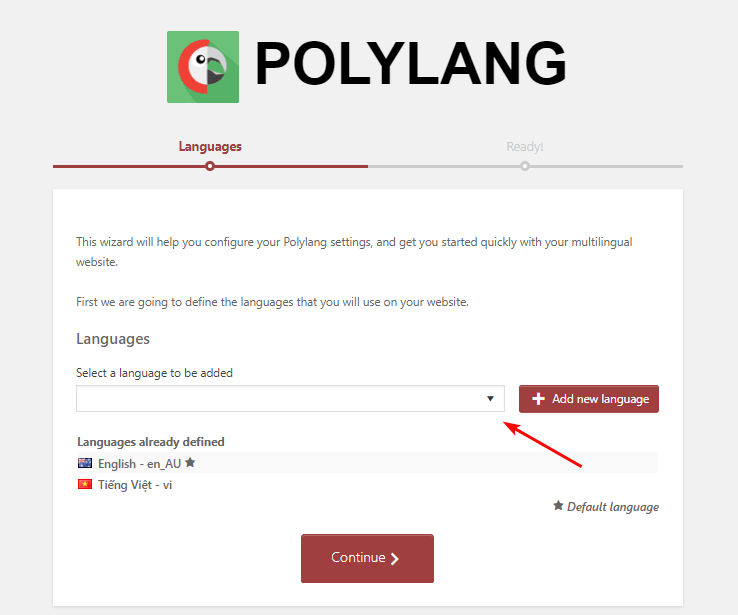 installing the Polylang translation plugin plugin is pretty quick and easy with just a few clicks.