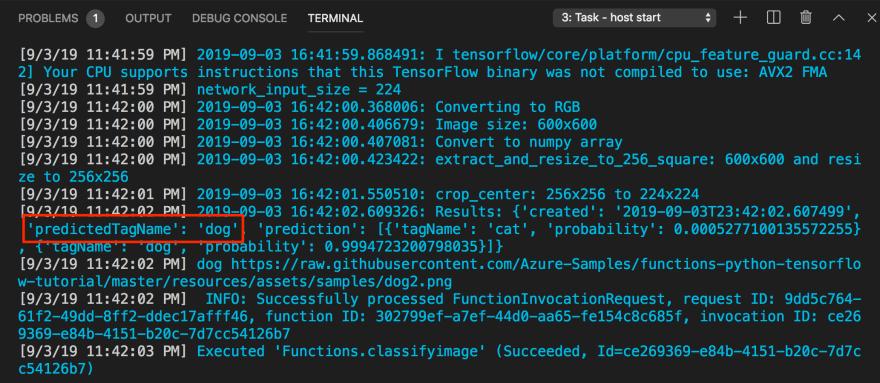 function logs