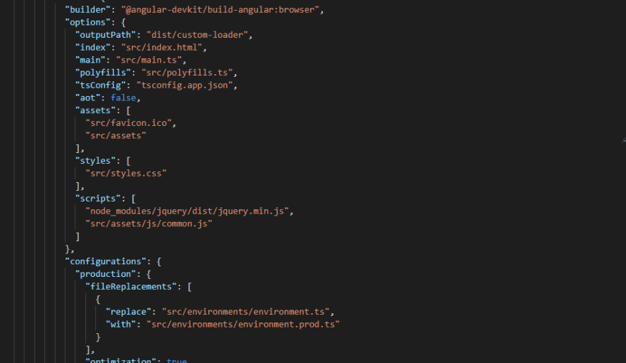 Code Snippet of Add Custom JS and Image of loader Step
