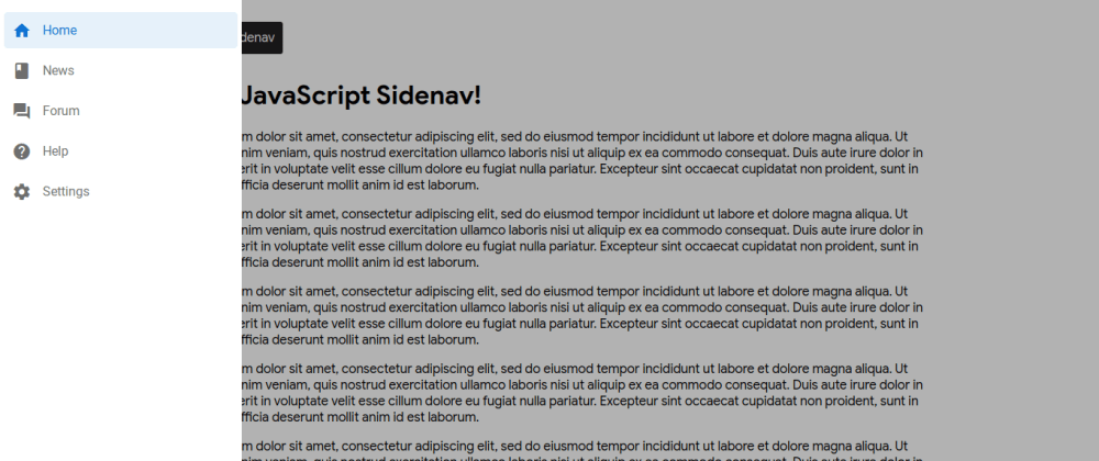 Cover image for Creating a material design sidenav using pure JavaScript