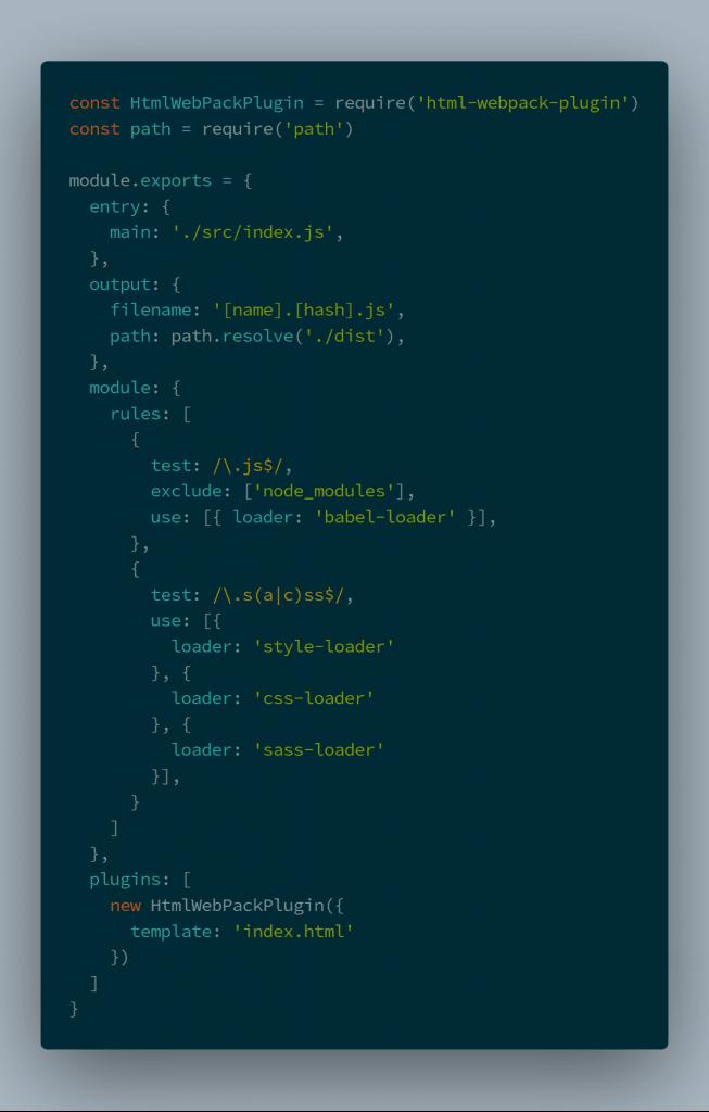 webpack config with htmlwebpackplugin