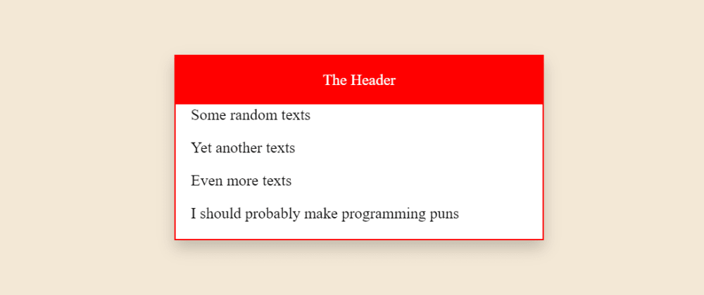 Cover image for How To Create a Simple CSS Card Without Frameworks