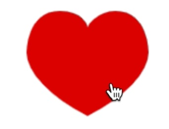 heart with pointer cursor