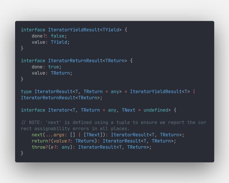 Iterator interface