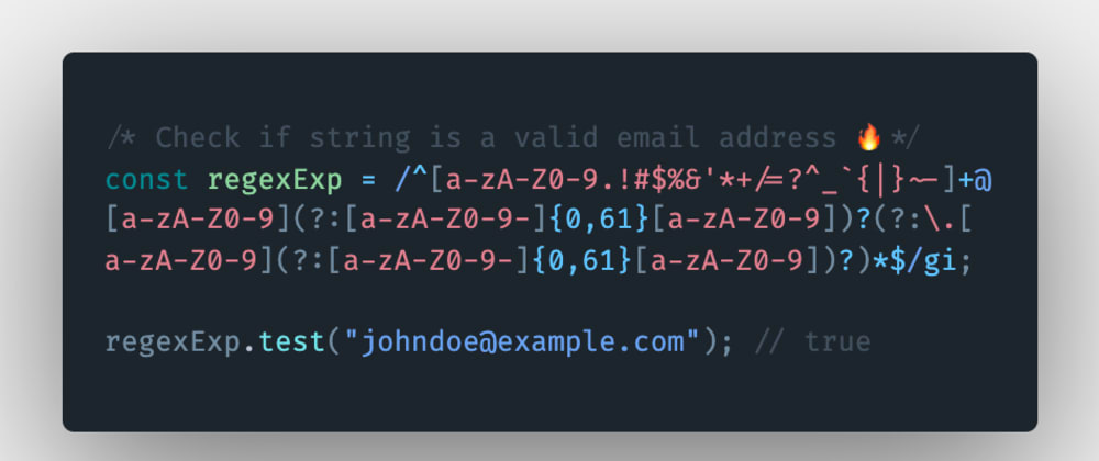 Cover image for How to check if a string is a valid email address in JavaScript?