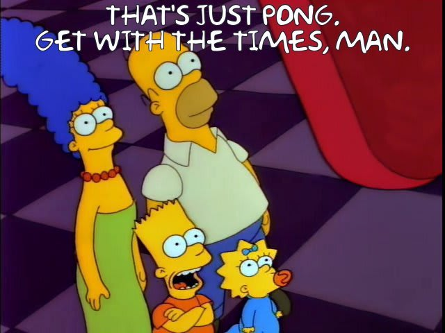 The Simpsons Pong Reference