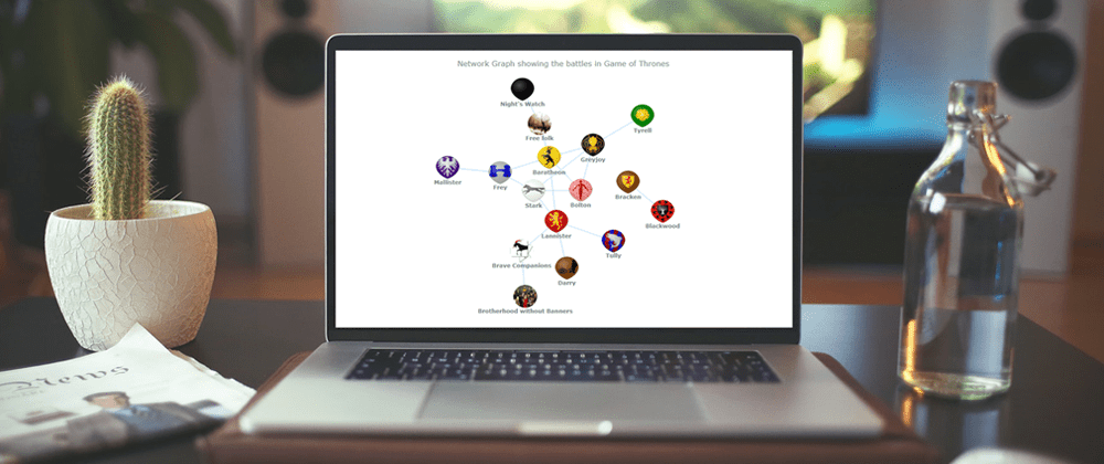 Cover image for Creating a Network Graph Using the AnyChart JS Charting Library (Visualizing Game of Thrones Battles)