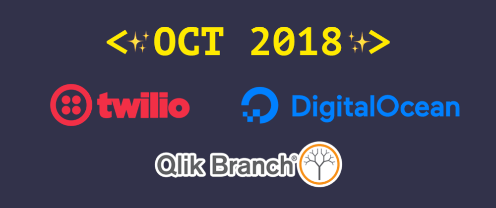 Cover image for Introducing our October 2018 sponsors