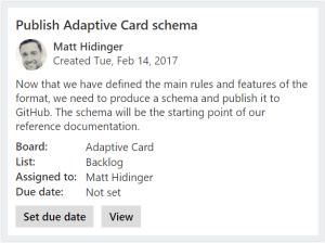 Adaptive Card Sample