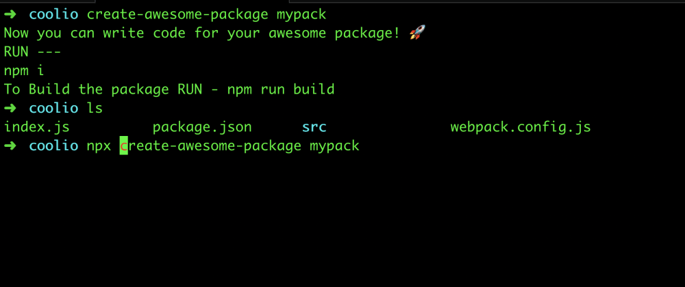 Cover image for create-awesome-package : Released a CLI to bootstrap your awesome package 🚀 📦