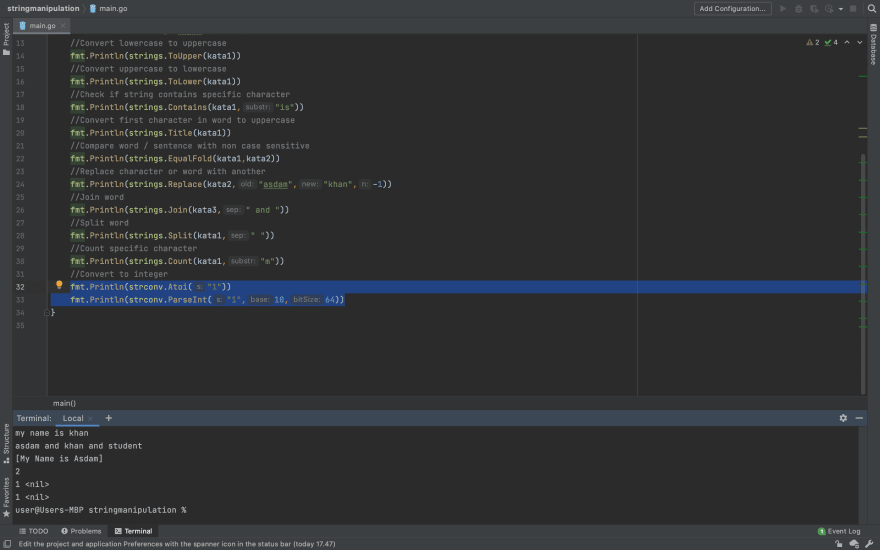 Convert String Into Int Example