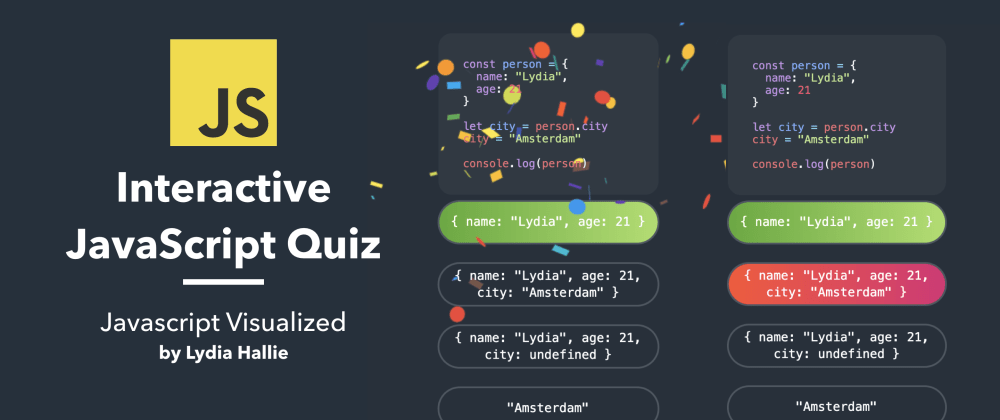 Cover image for ⭐️ Interactive JavaScript Quiz #1