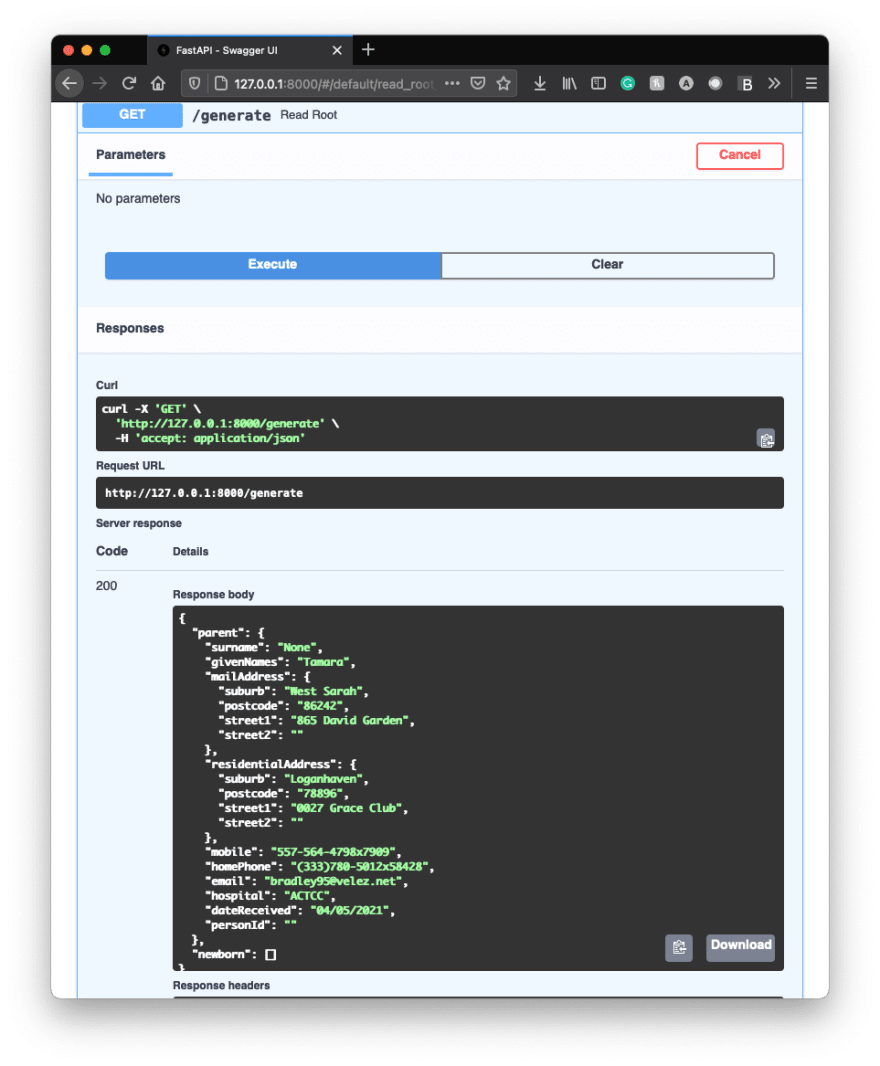Example Swagger UI - Page 4