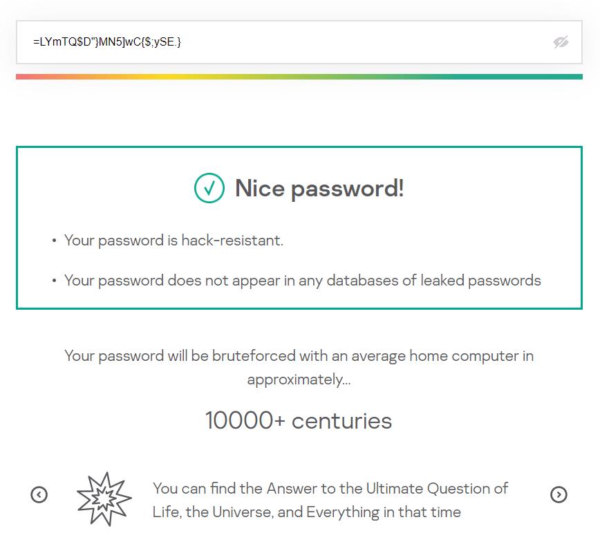 Password strength checker number 2