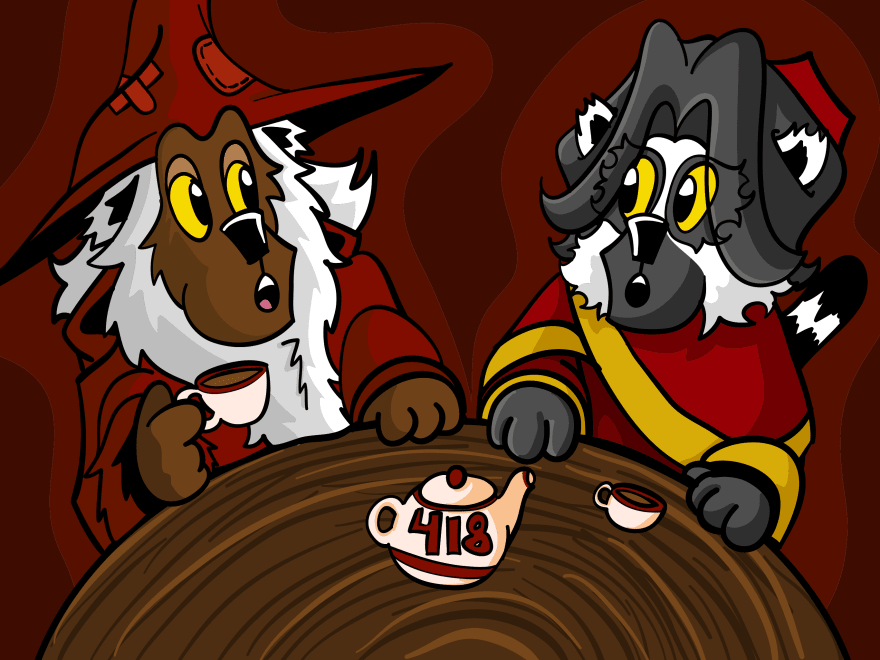 Crimson and Scarlet talking, both playing coy