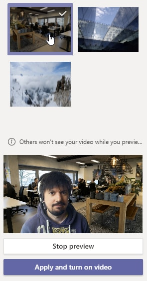 Enable your custom background on Microsoft Teams
