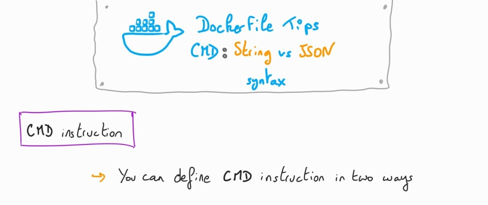 Cover image for Understanding Docker: part 17 – Dockerfile Tips: CMD - string vs JSON syntax