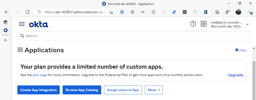 Using Okta With Static Web Apps