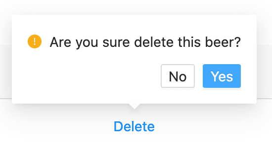 Prompting a confirm dialog before deletion