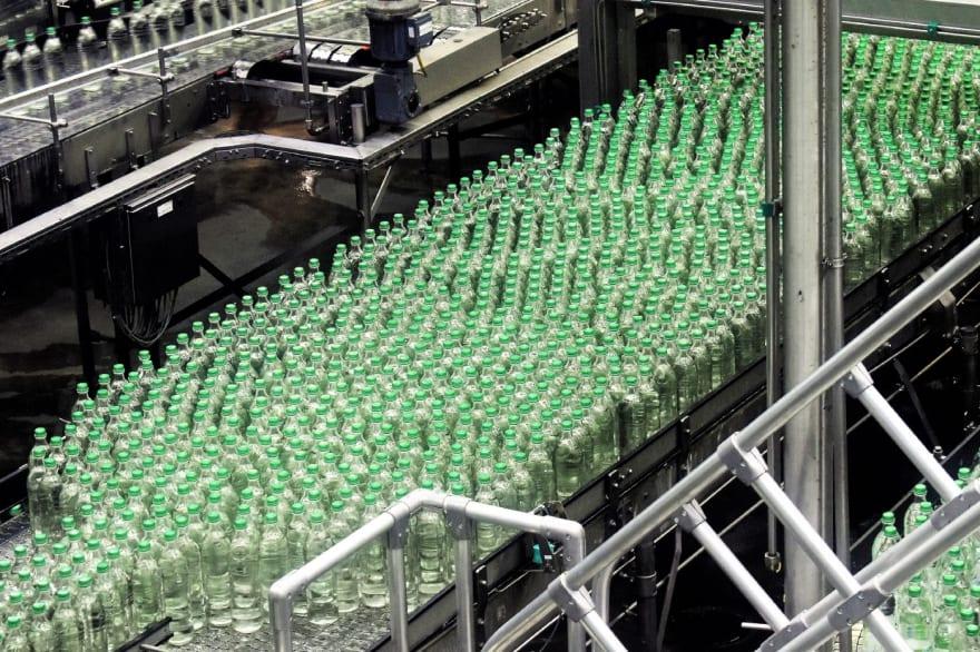 A bottling factory