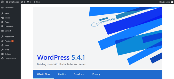 Finish downgrading WordPress to version 5.4.1.