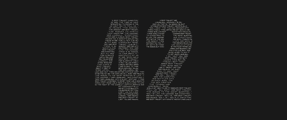 Cover image for 42: The answer to life, the universe and why your website might be slow
