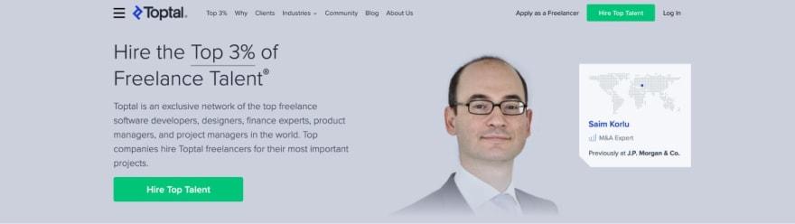 Toptal website