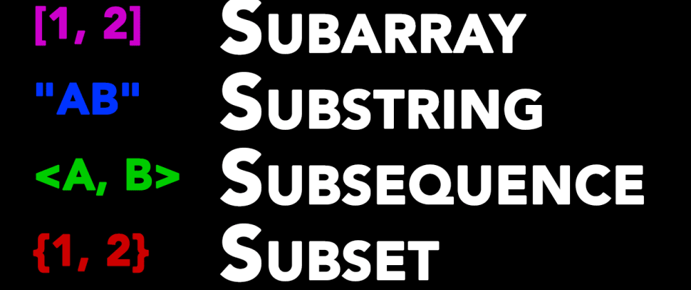 Cover image for Know the Difference: Subarray vs Substring vs Subsequence vs Subset