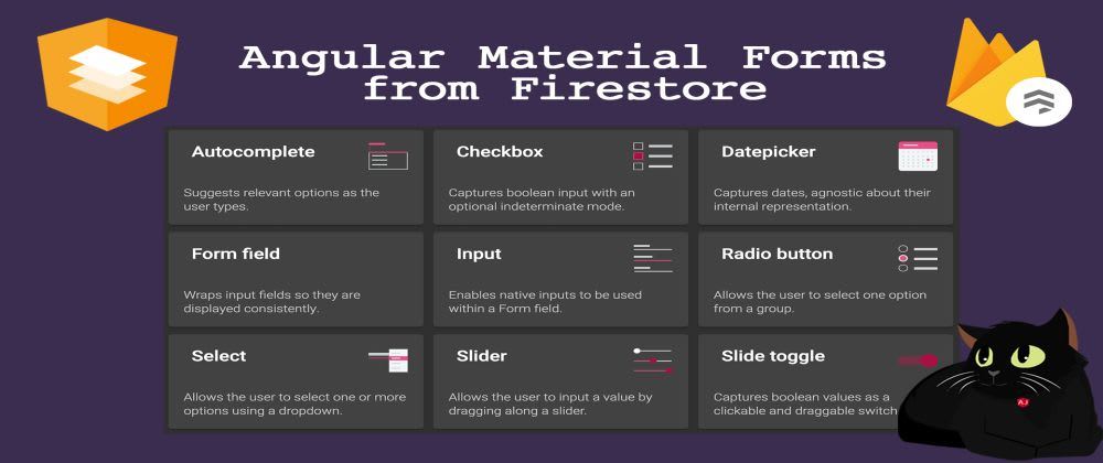 Cover image for Angular Material Forms from Firestore