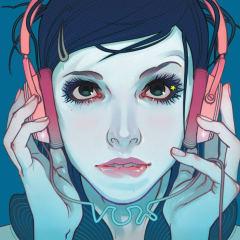 Girl headphones art 1