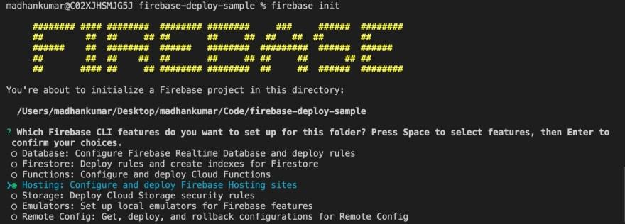 Firebase init