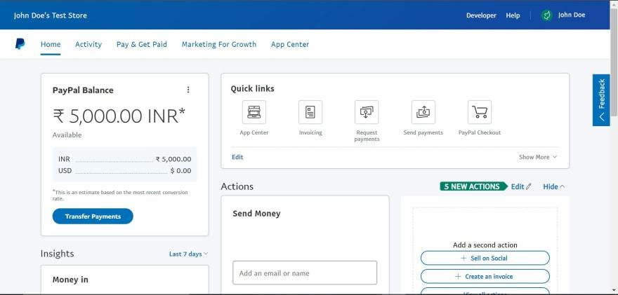 sandbox-business-account-dashboard