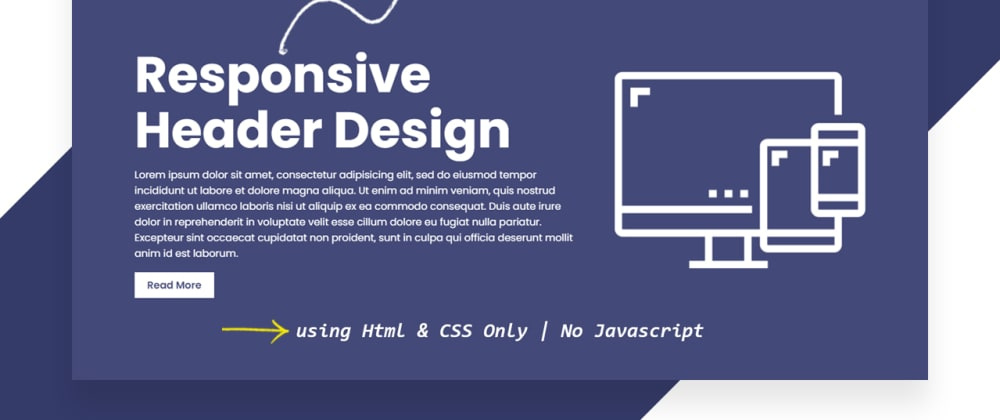Cover image for How To Create a Responsive Header | Responsive Web Design Tutorial For Beginner