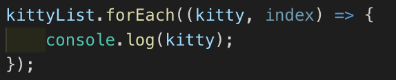 kitty forEach