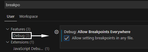 Allow Breakpoints Everywhere