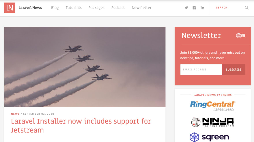 Laravel News among the best PHP blogs