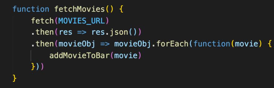 Fetching movie data