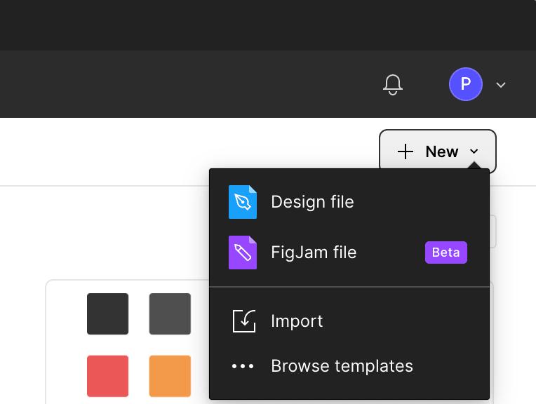 Create a new design file in Figma