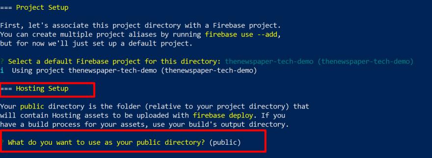 Firebase Hosting SetUp<br>