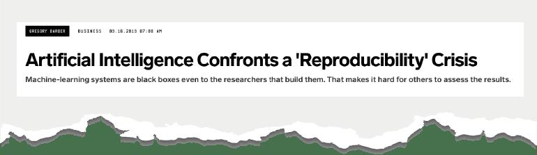La IA se enfrenta a una crisis de reproducibilidad, revista Wired.