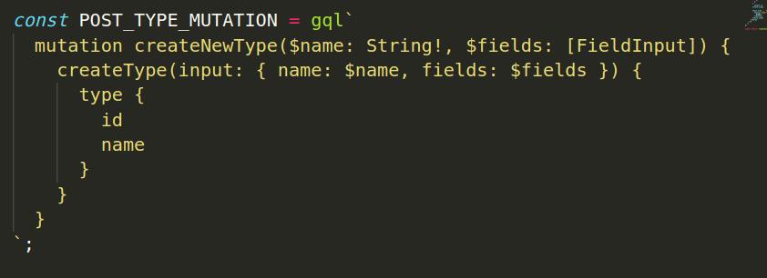 Mutation code sample