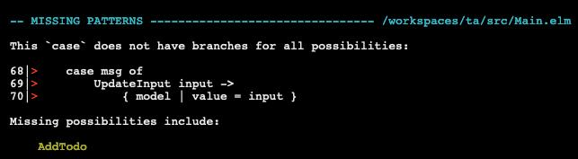 Compiler error in Elm