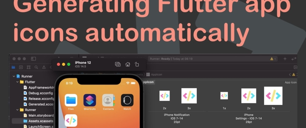 Cover image for Generating Flutter app icons automatically