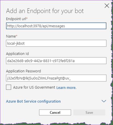 Conexión con el bot desde emulador