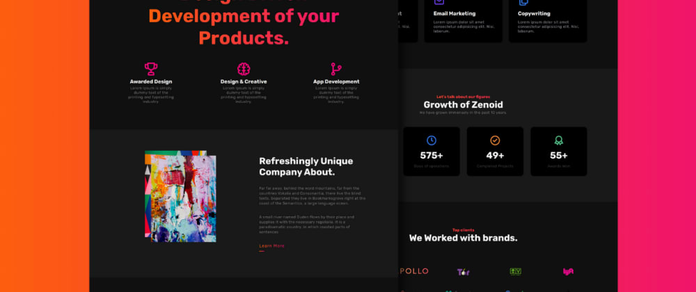 Cover image for Get Free Responsive Landing Page with Animations.